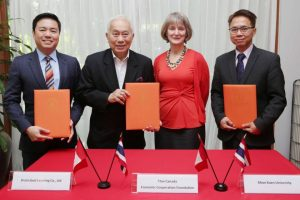 KKU joins the Canada-Thailand Economic Cooperation Foundation and Brain Cloud Company to develop a program that responds to the present-day need and incorporates necessary future skills