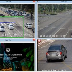 Real time traffic signal violation detecting and recording program