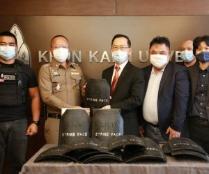 KKU gives bullet-proof plates made from cocoon to police for real use – users are confident of the efficiency and appreciate KKU's research for the social